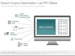 Innovative Search Engine Optimization List Ppt Slides