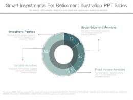 Innovative Smart Investments For Retirement Illustration Ppt Slides