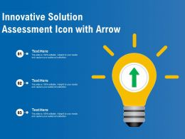 Innovative Solution Assessment Icon With Arrow