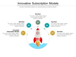 Innovative Subscription Models Ppt Powerpoint Presentation Slides Topics Cpb