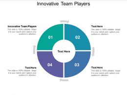 Innovative Team Players Ppt Powerpoint Presentation Visual Aids Cpb
