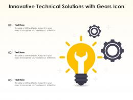 Innovative Technical Solutions With Gears Icon