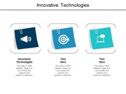 Innovative Technologies Ppt Powerpoint Presentation Infographic Template Microsoft Cpb