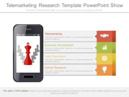 Innovative Telemarketing Research Template Powerpoint Show