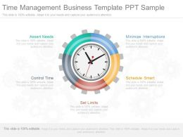 Innovative Time Management Business Template Ppt Sample
