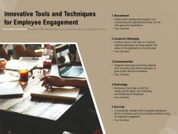 Innovative Tools And Techniques For Employee Engagement
