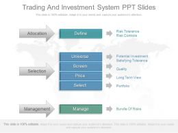 Innovative Trading And Investment System Ppt Slides