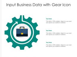Input Business Data With Gear Icon