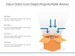 Input Data Icon Depicting Multiple Arrows