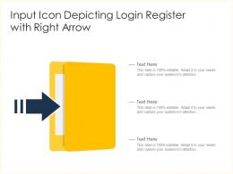 Input Icon Depicting Login Register With Right Arrow
