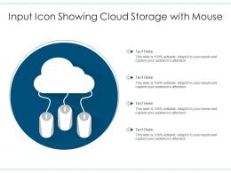 Input Icon Showing Cloud Storage With Mouse