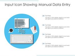 Input Icon Showing Manual Data Entry