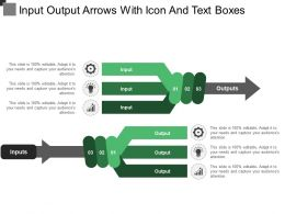 Input Output Arrows With Icon And Text Boxes