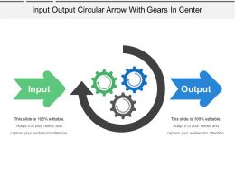 Input Output Circular Arrow With Gears In Center