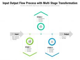 Input Output Flow Process With Multi Stage Transformation