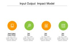 Input Output Impact Model Ppt Powerpoint Presentation Professional Summary Cpb