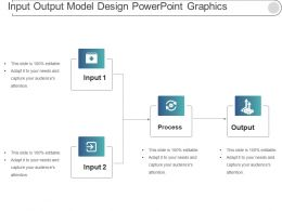 Input Output Model Design Powerpoint Graphics