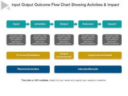 Input Output Outcome Flow Chart Showing Activities And Impact