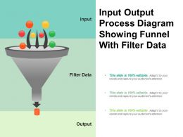 Input Output Process Diagram Showing Funnel With Filter Data