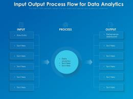 Input Output Process Flow For Data Analytics