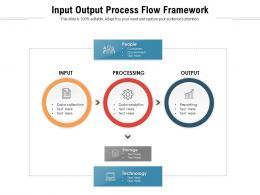 Input Output Process Flow Framework
