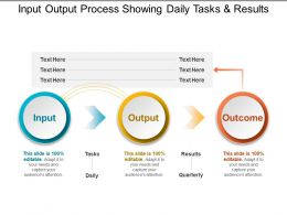 Input Output Process Showing Daily Tasks And Results