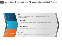 Input Output Process System Showcasing Impact With 3 Options