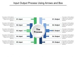 Input Output Process Using Arrows And Box
