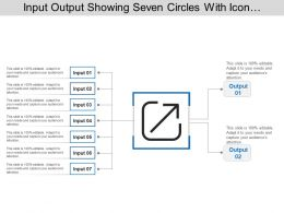 Input Output Showing Seven Circles With Icon And Text Boxes