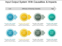 Input Output System With Causalities And Impacts
