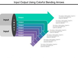 Input Output Using Colorful Bending Arrows