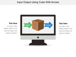 Input Output Using Cube With Arrows