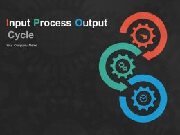 Input Process Output Cycle Powerpoint Presentation Slides