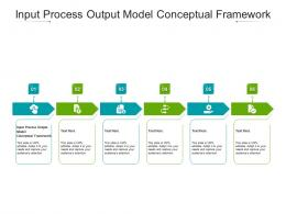 Input Process Output Model Conceptual Framework Ppt Powerpoint Presentation Ideas Cpb