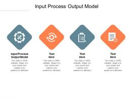 Input Process Output Model Ppt Powerpoint Presentation Styles Show Cpb