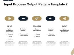 Input Process Output Pattern Analysis Ppt Powerpoint Presentation Maker