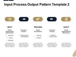 Input Process Output Pattern Analysis Ppt Powerpoint Presentation Maker