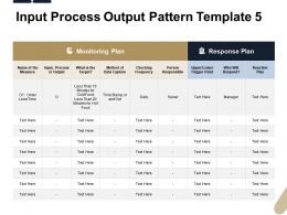 Input Process Output Pattern Frequency Ppt Powerpoint Presentation Icon