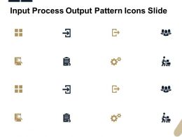 Input Process Output Pattern Icons Slide Gears L437 Ppt Powerpoint Design