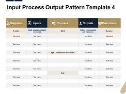 Input Process Output Pattern Measures Ppt Powerpoint Presentation Portfolio