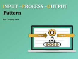 Input Process Output Pattern Powerpoint Presentation Slides