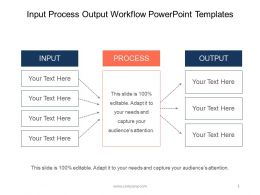Input Process Output Workflow Powerpoint Templates