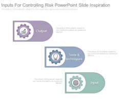 Inputs For Controlling Risk Powerpoint Slide Inspiration