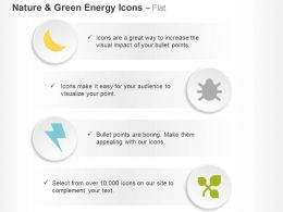 Insect Moon Lighting Plant Ppt Icons Graphics
