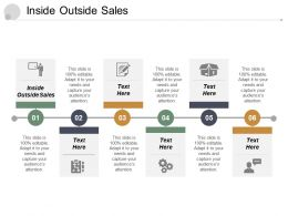 Inside Outside Sales Ppt Powerpoint Presentation Diagram Graph Charts Cpb