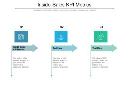 Inside Sales KPI Metrics Ppt Powerpoint Presentation Portfolio Objects Cpb