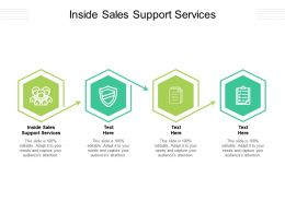 Inside Sales Support Services Ppt Powerpoint Presentation Gallery Example Cpb