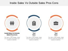 Inside Sales Vs Outside Sales Pros Cons Ppt Powerpoint Presentation File Cpb