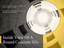 Inside View Of A Round Concrete Silo