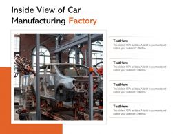 Inside View Of Car Manufacturing Factory